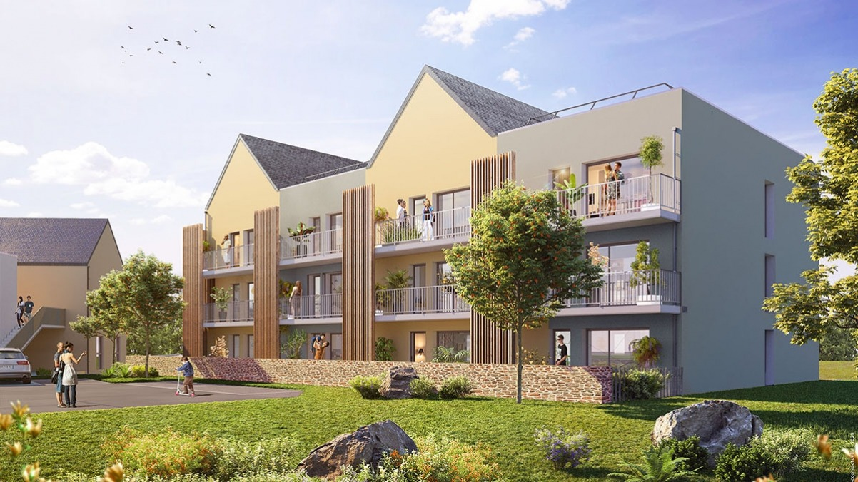 Résidence Les Balcons de la Massaye à Guichen Pont Réan - Appartements neufs en PSLA
