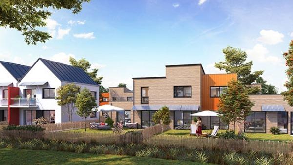 Eco hameau Les Pommiers à Montreuil-Le-Gast - appartement T3 en PSLA