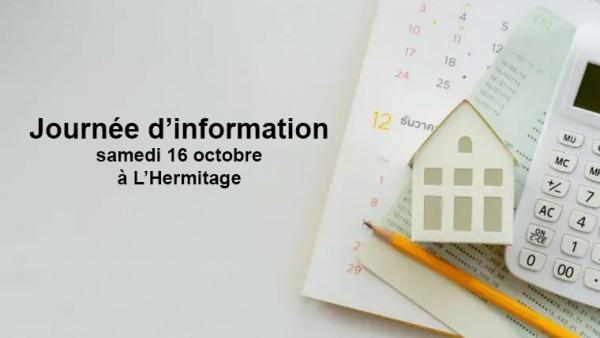 Journée d'information le samedi 16 octobre à L'Hermitage